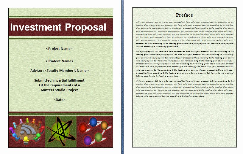 Business Investment Proposal Template Lovely Investment