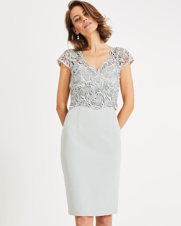 d22d750aa62 Ellise Lace Bodice Dress