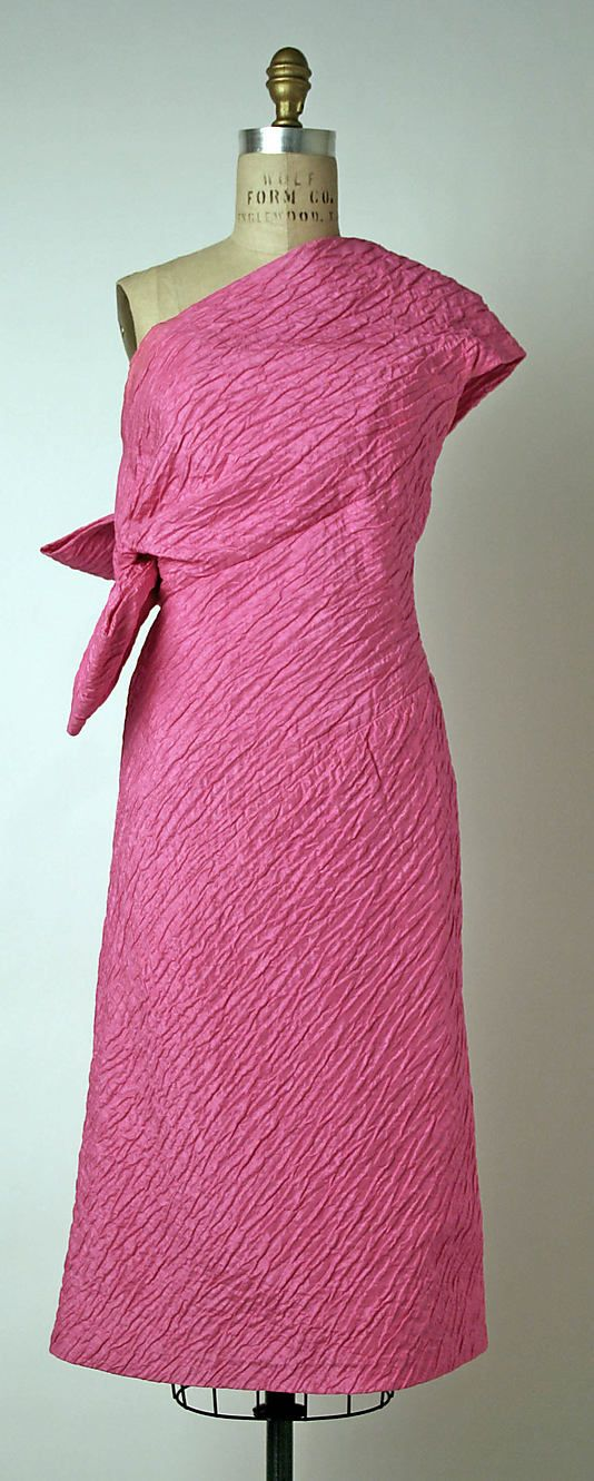 Evening dress, House of Givenchy, Designer Hubert de Givenchy, ca. 1960, French, silk