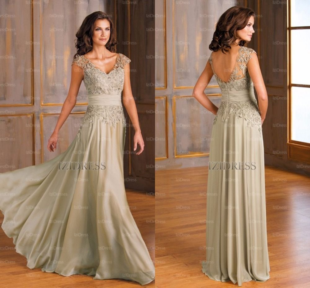 Elegant Mother Bride Dresses Chiffon