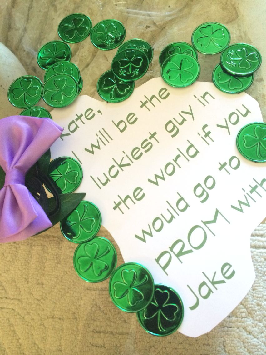 I am not Irish but I believe in luck #prom? #promposal