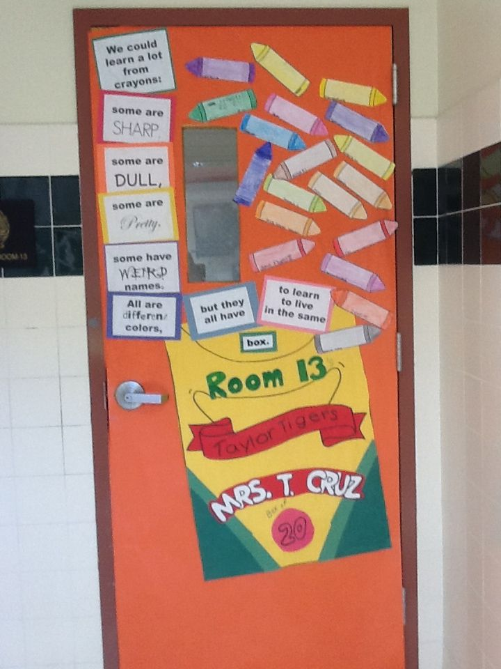 Classroom Unity Ideas ~ Our classroom unity day door i used the story of