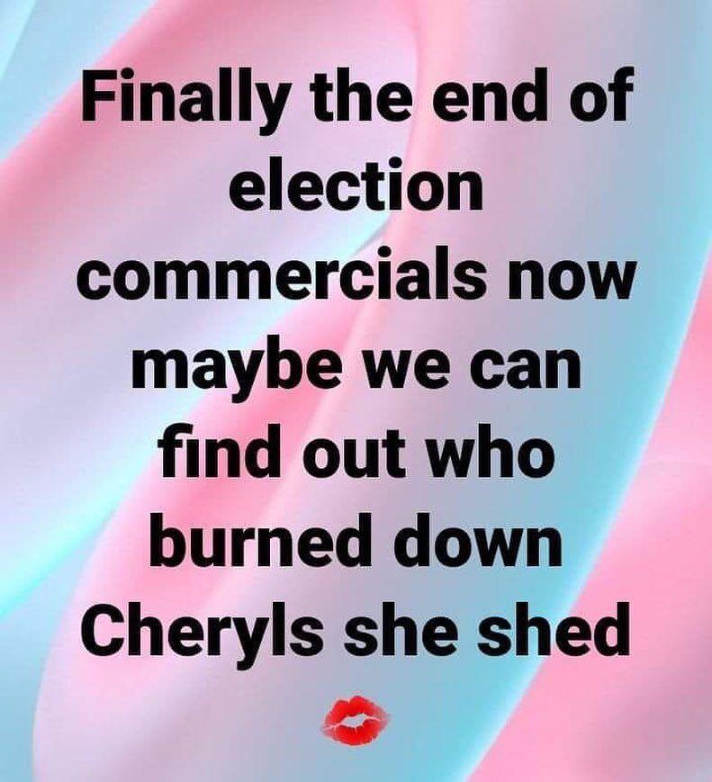 "Ruby's Rubbish® on Instagram: ""Did she in fact get a ""sheshier"" she shed? 😂 @statefarm #toofunny #statefarm #poorcheryl #justiceforcheryl #sheshed #instagood #instafunny…"""