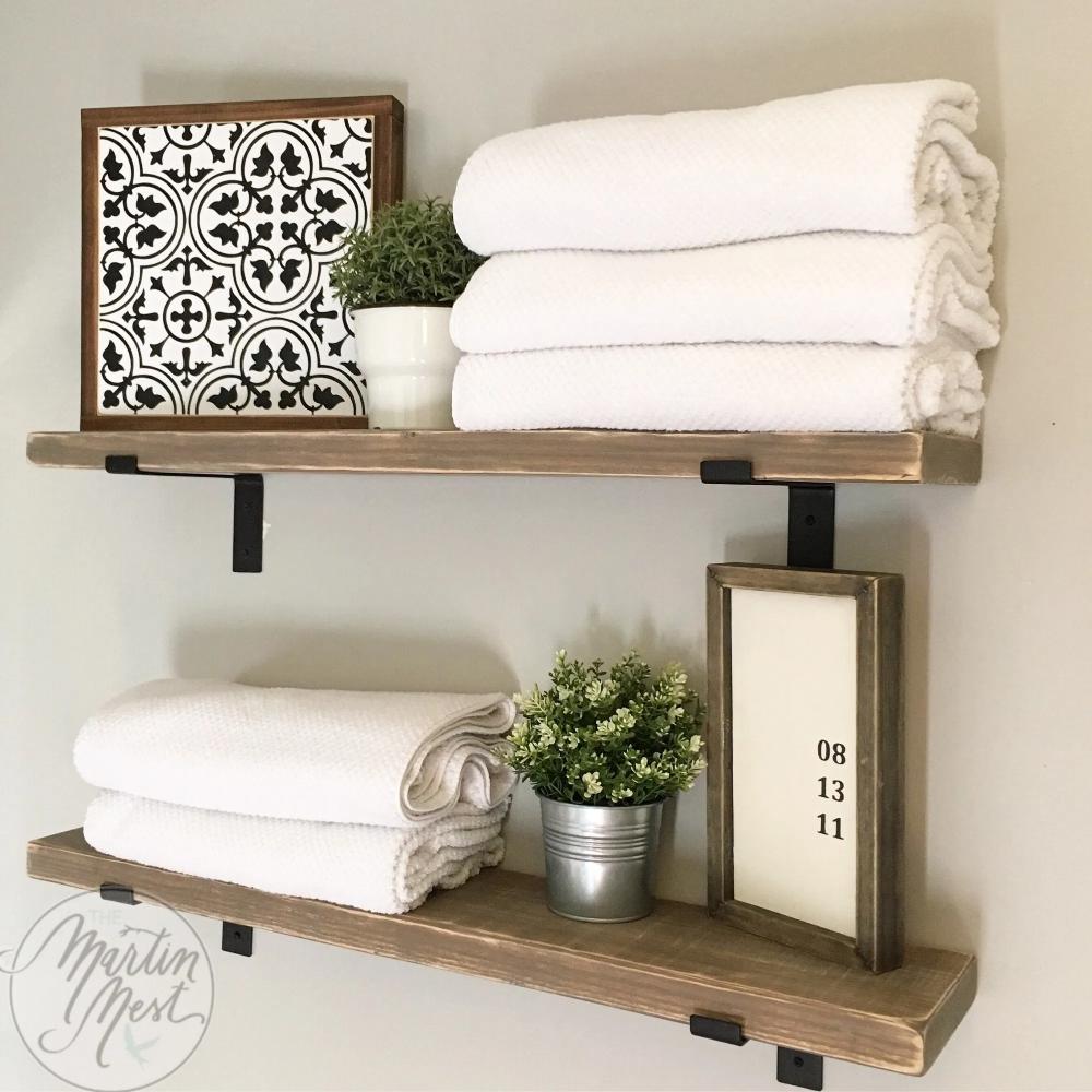 DIY Bracket Shelves in 2020 | Diy shelf brackets