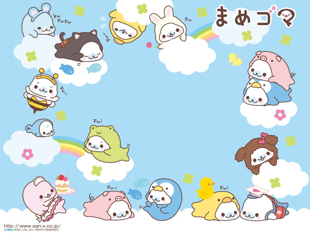 Wallpaper iphone san x - Cute Kawaii Background Mamegoma Background Desktop Wallpaper Kawaii San X