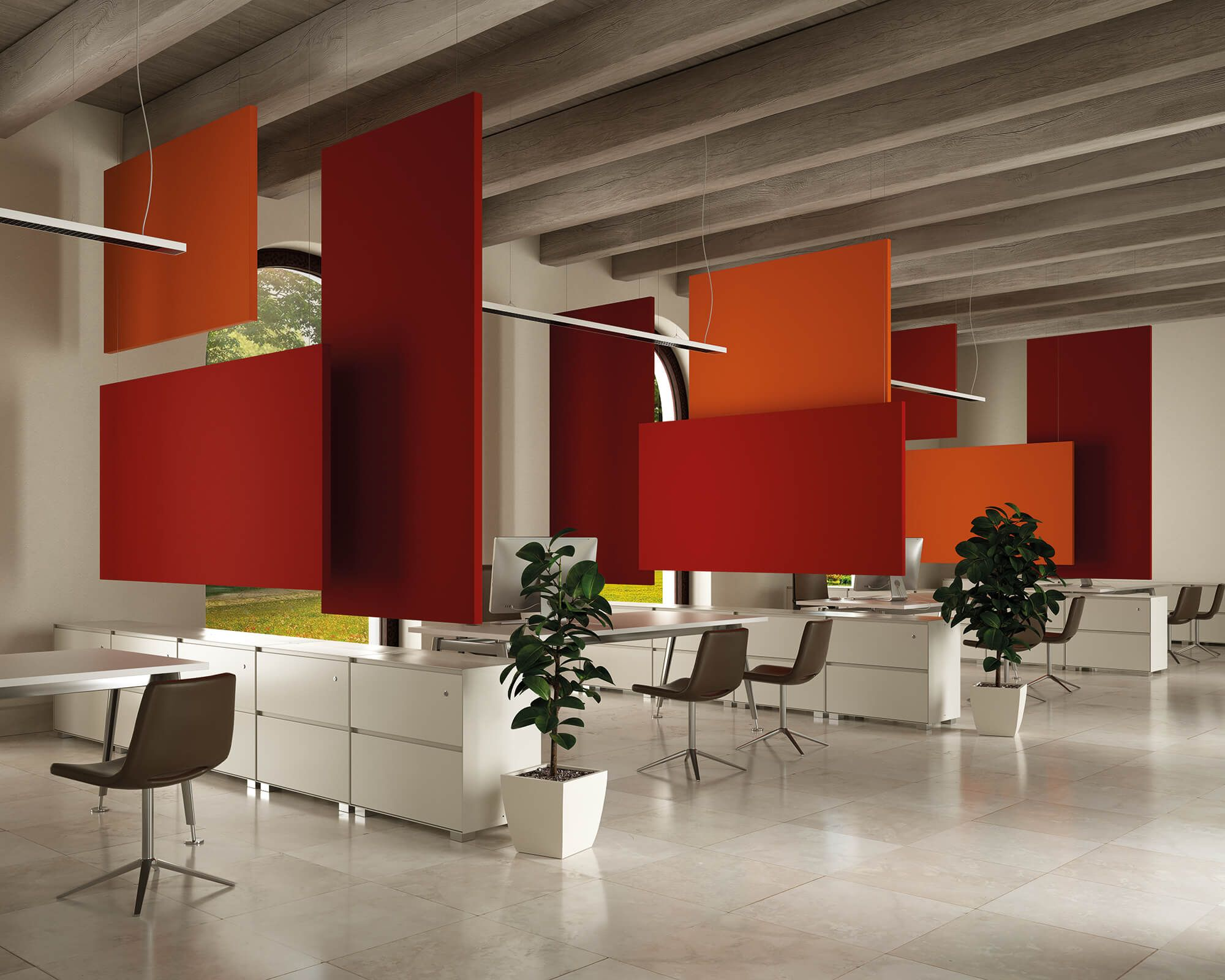 Charmant Office Acoustic Comfort, Flag Sound Absorbing Panels