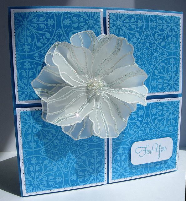 Card Making Ideas Using Vellum Part - 23: Ancient Motif Stamp - I Really Like The Flower On Vellum Paper, Layered  Three Times