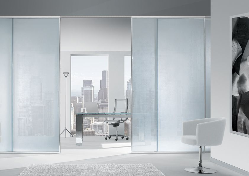 System of doors with frame made of a thin aluminium profile filled ...