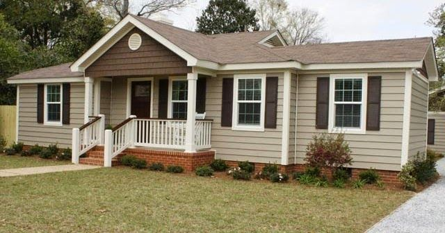 Nice Brown Beige Vinyl Siding With Brown Accent Of Shake Type Shingled Siding Numerous Older As Mobile Home Porch Painting Vinyl Siding Mobile Home Exteriors