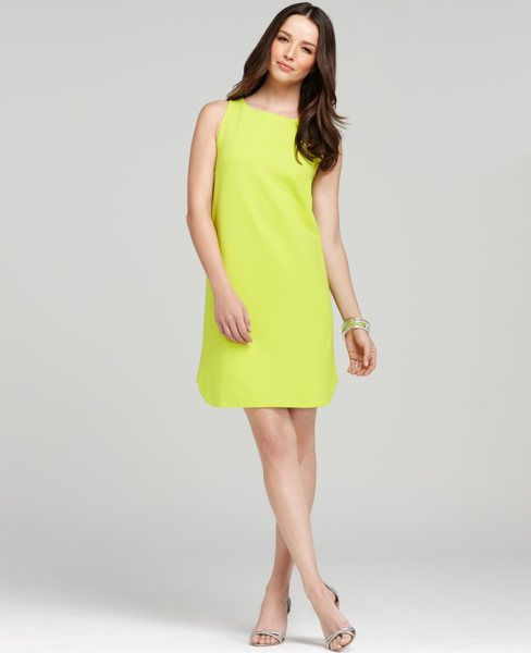 Poolside Shift Dress from Ann Taylor. Shift dress with exposed back zipper.