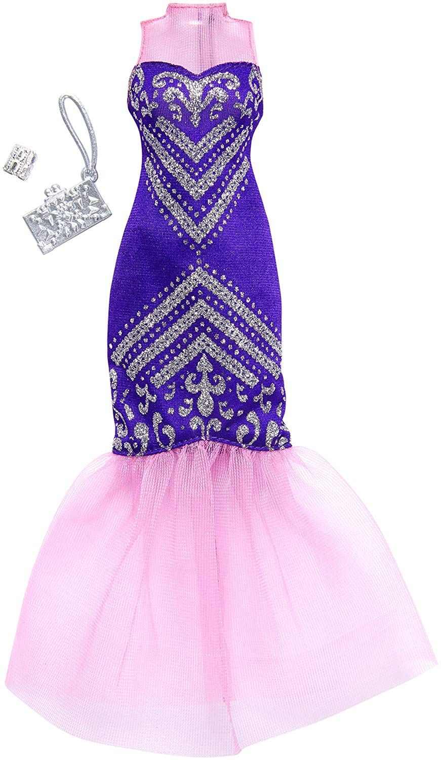 Flawless Stunning One Shouldered Gown in Light Purple Made to Fit Barbie Doll