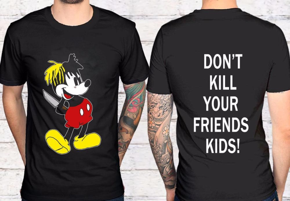 9c7c69fb2 2 Side Xxxtentacion Tour Merch Don'T Kill You Friends Black T-Shirt Tee
