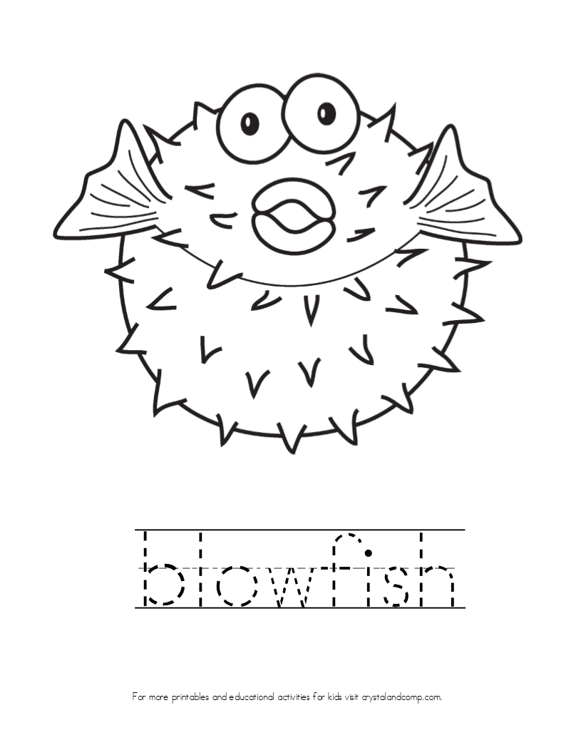 Kid Color Pages Blowfish