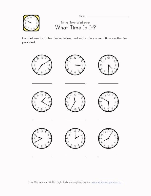 time worksheet | Time Worksheets | Pinterest | Worksheets, Telling ...