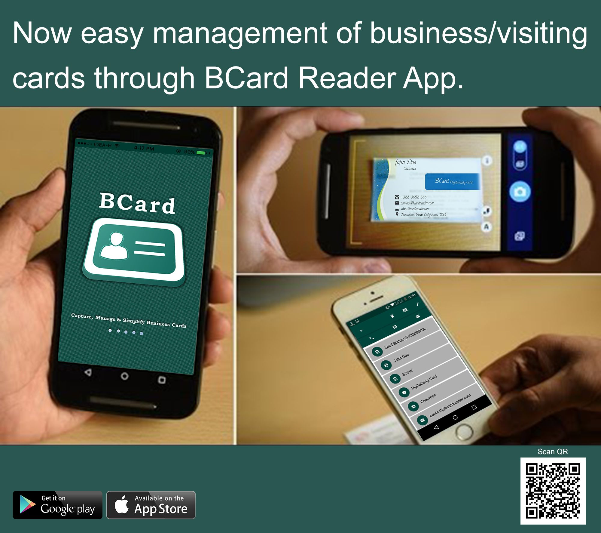 It is an application which digitize Paper Business Card digitally ...