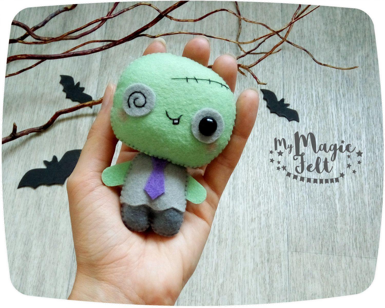 Halloween ornament zombie cute Halloween ornaments felt Zombie toy ...