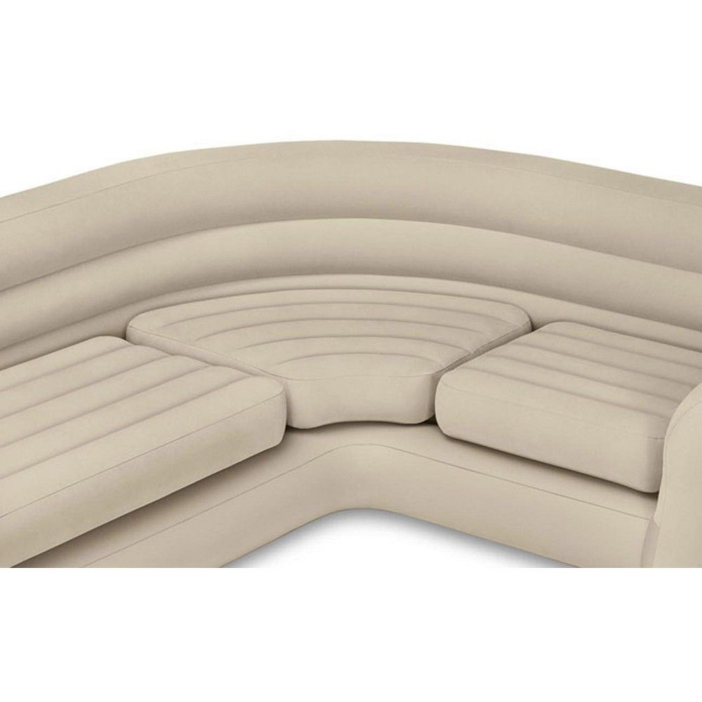 Astounding Intex Inflatable Corner Living Room Neutral Sectional Sofa Onthecornerstone Fun Painted Chair Ideas Images Onthecornerstoneorg