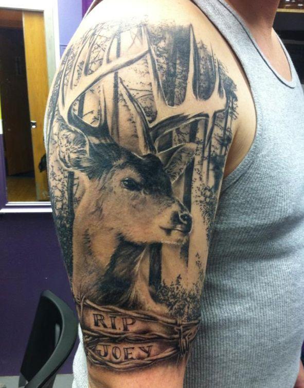 Readers Share Deer Tattoos Deer Tattoo Designs Deer Tattoo Hunting Tattoos