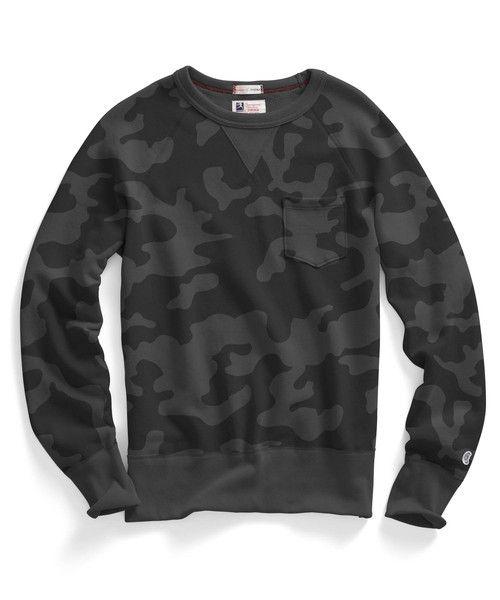 f6314b392d17e Pocket Sweatshirt in Black Camo Todd Snyder, Boy Fashion, Mens Fashion,  Sweater Cardigan