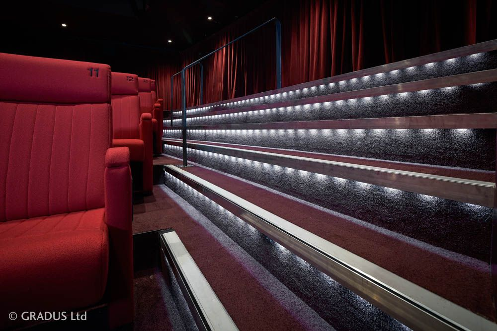 Theatre Cinema Led Step Lighting Installed By Gradus
