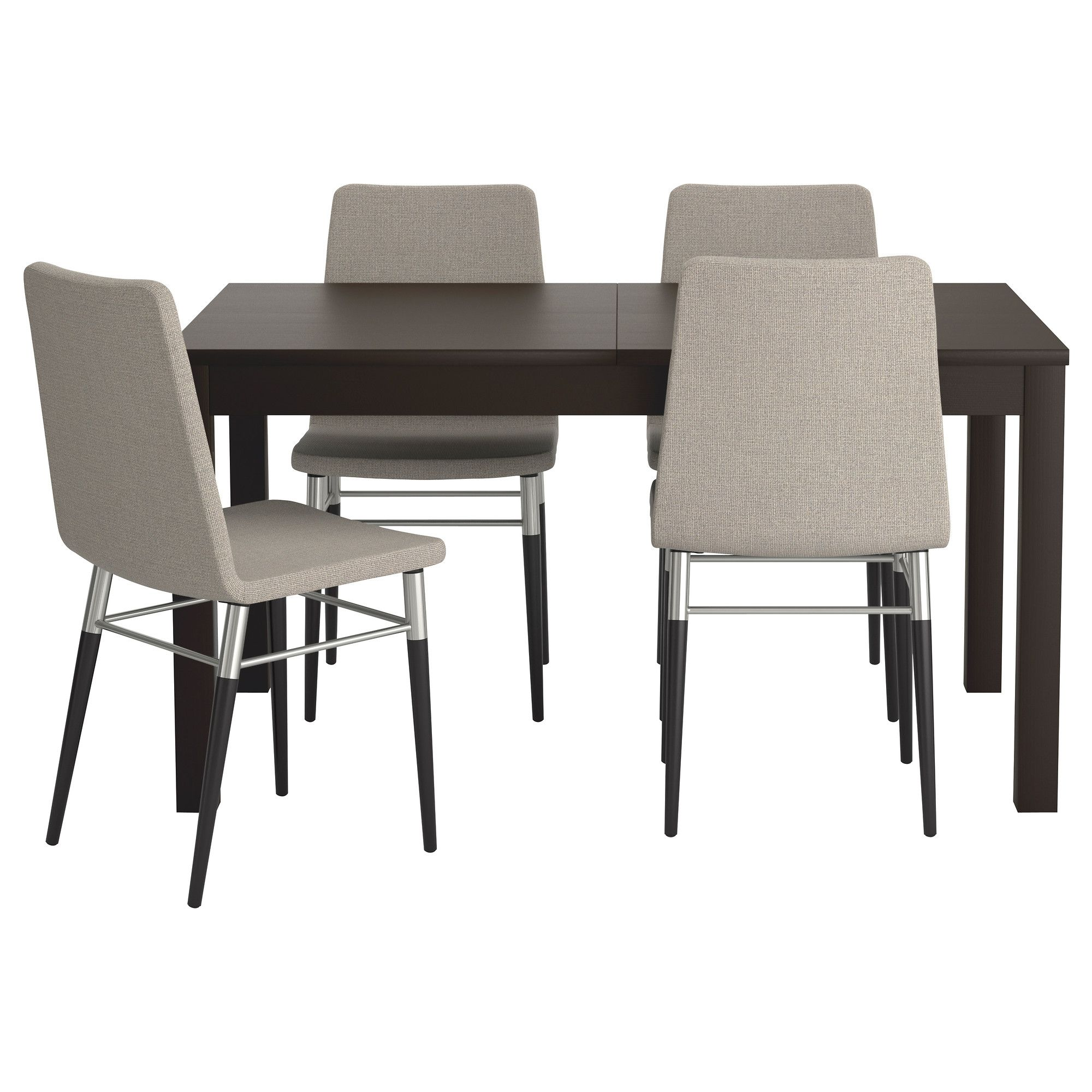 Bjursta  Preben Table And 4 Chairs Brownblack Tenö Light Gray Impressive Small Dining Room Sets Ikea Decorating Inspiration