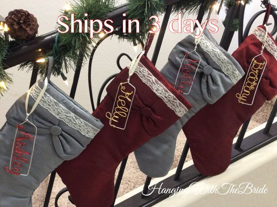 Personalized Christmas stocking Christmas by HangingWithTheBride