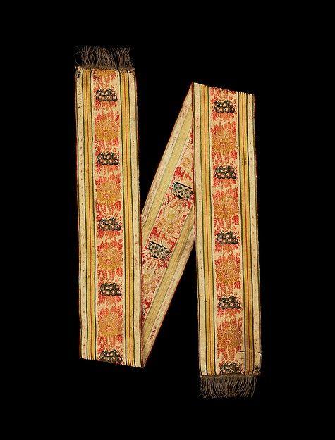 Ribbon / Date: early 19th century Culture: Czech Medium: silk, metal