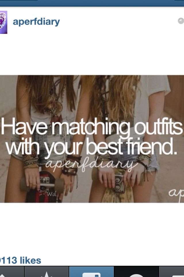 Quotes About Matching Outfits : quotes, about, matching, outfits, Matching, Outfit, Friend, Girly, Things,, Quotes