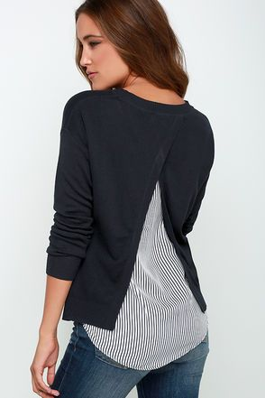 Sailor Swoon Midnight Blue Sweater Top