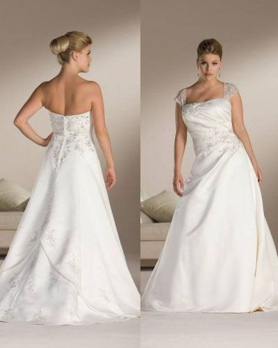 Wedding dress for older and over weight women | Tips To Buy A Plus ...