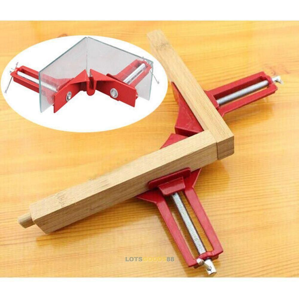 4PCS 90° Right Angle Woodworking Picture Frame Corner Clamp Holder Hand Tool