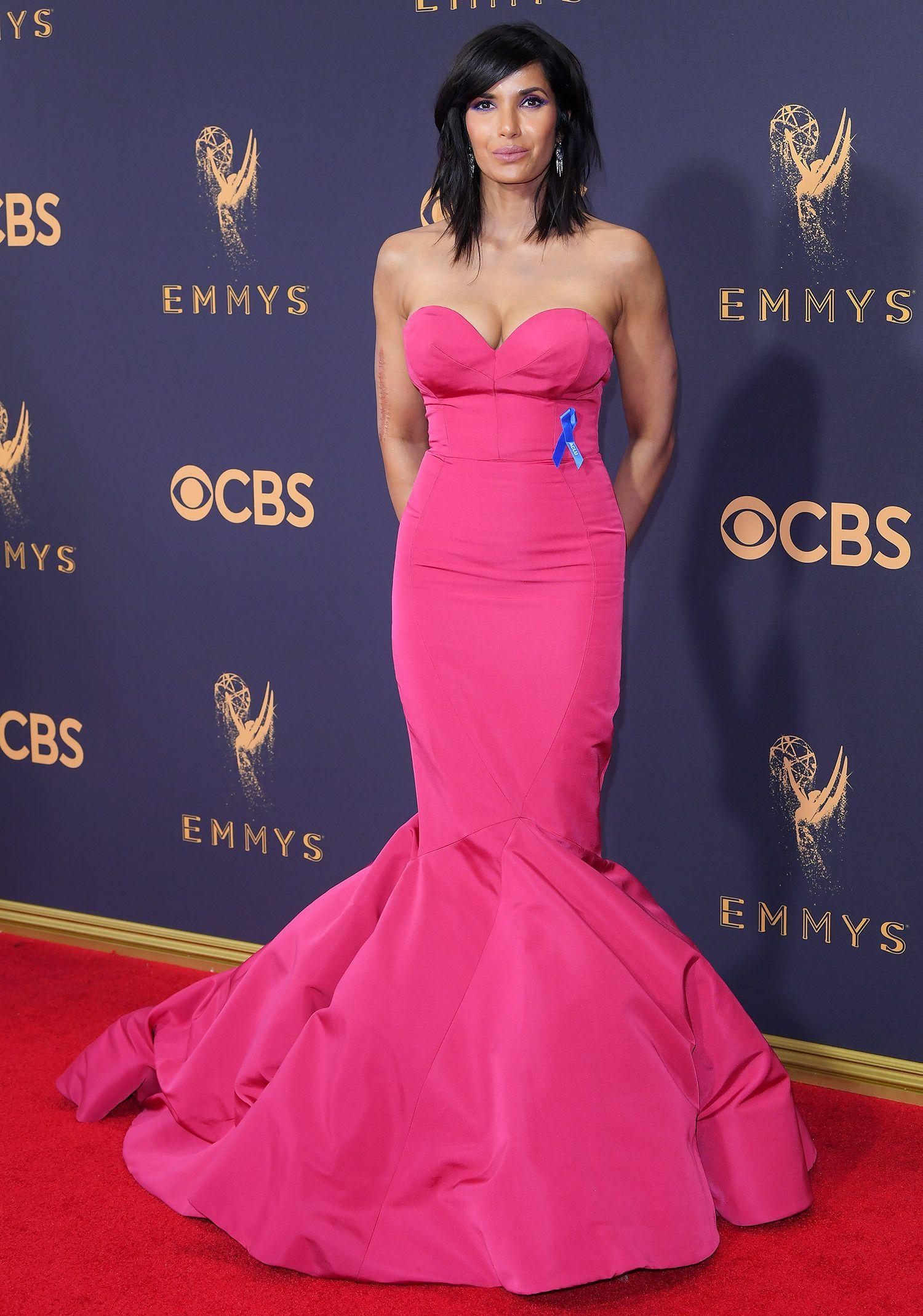 Padma Lakshmi Debuts Drastic New Haircut at the 2017 Emmy Awards