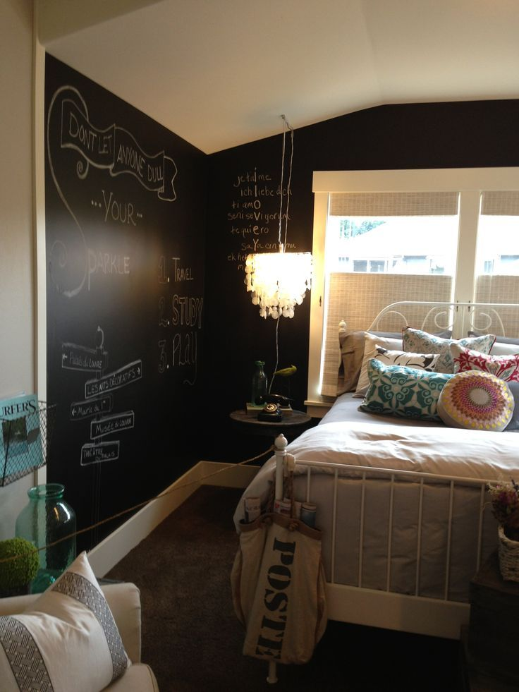 Interior Paint Ideas Pinterest Part - 35: Paint One Wall, Or All Of Them, With Chalkboard Paint. Fun Idea For A  Teenageru0027s Bedroom! I Would LOVE To Paint One Wall Of Serau0027s Room In  Chalkboard.