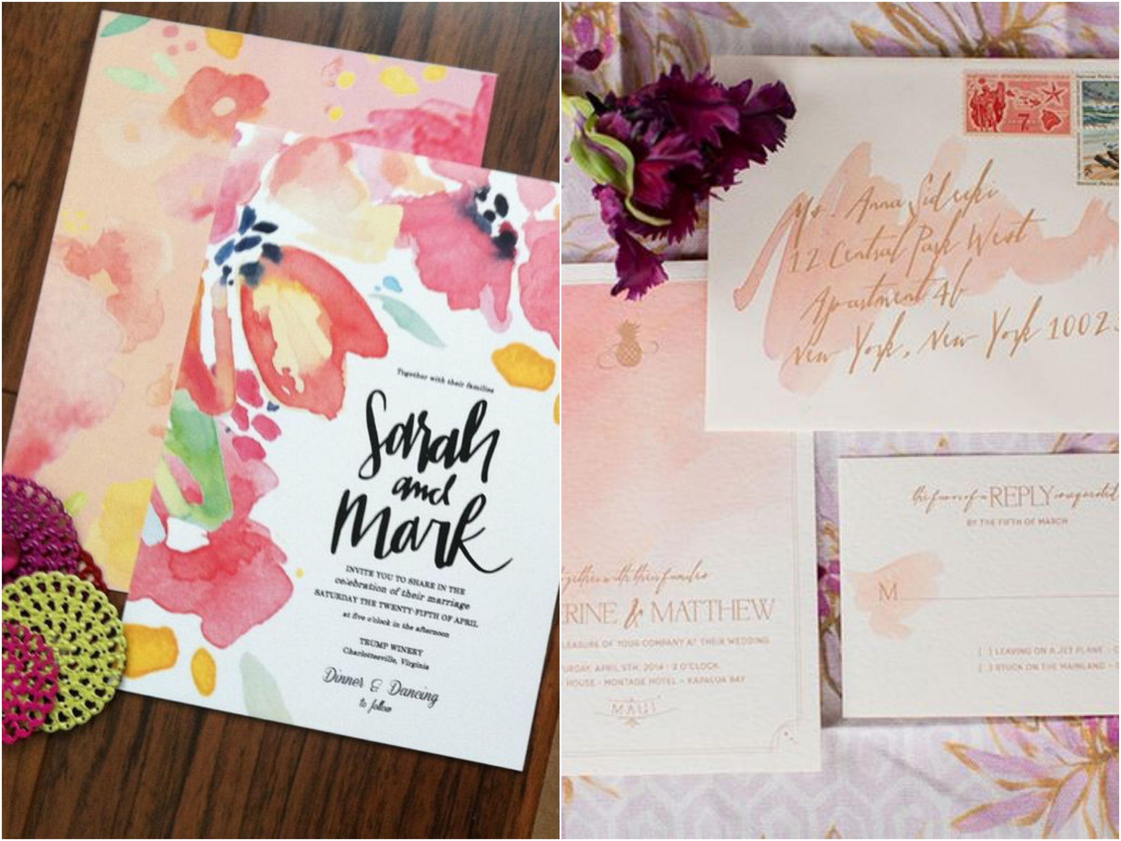 10 inspirações de Convites Aquarela | http://blogdamariafernanda.com/convites-aquarela-10-inspiracoes