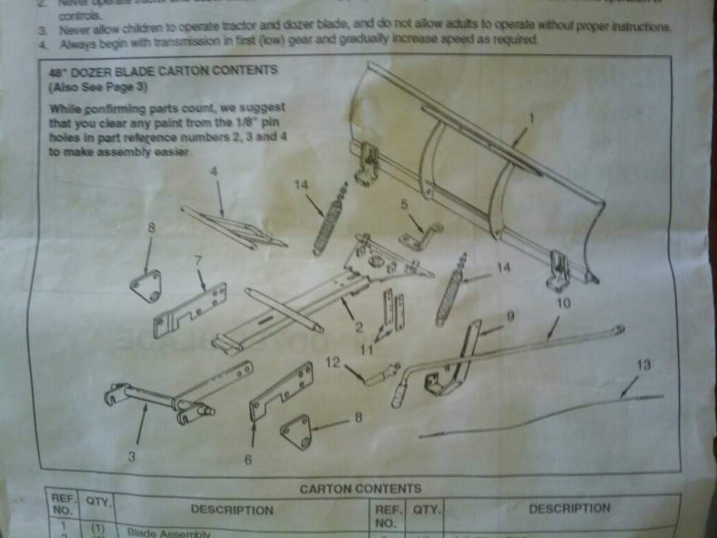 craftsman snow blade model 486-24412 lift | missing some hardware to ...