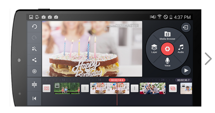 The full featured video editor app on Android, KineMaster
