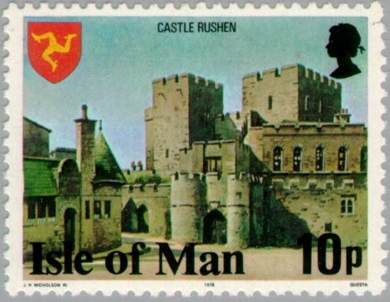 Sello: Castle Rushen (Isla de Man) (Buildings) Mi:IM 111A,Yt:IM 104,AFA:IM 104