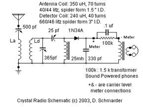 dave s homemade dx crystal radio schematic radio pinterest rh pinterest com