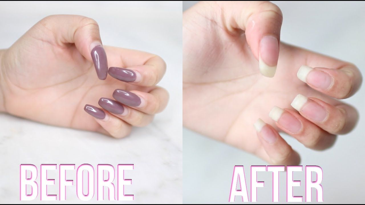 How To Remove Acrylic Nails At Home Remove Acrylic Nails Take Off Acrylic Nails Acrylic Nail Designs