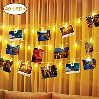 Led Bilder Weihnachten.Elfeland Led Lichterkette Fotolichterkette Mit 40 Led
