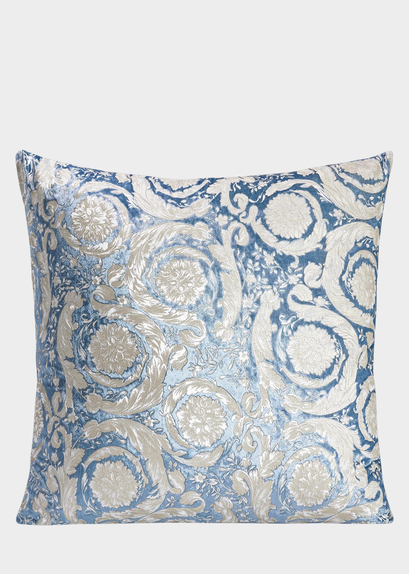 Velvet baroque cushion print cushions decor pinterest