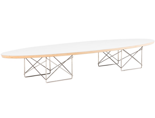 The Eames Elliptical Table Reproduction From The Modern Source Is True To The Original Design And Is Surfboard Coffee Table Coffee Table White Surfboard Table