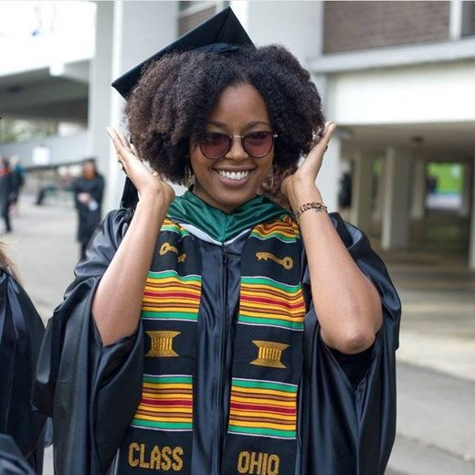 Top Ways To Slay In Your Graduation Cap With Natural Hair Cap And Gown Natural Hair Styles Graduation Hairstyles With Cap