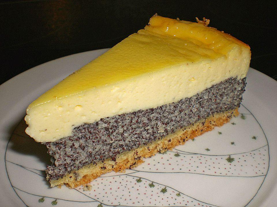 Mohn - Schmand - Kuchen Schmand, Mohn und Kuchen