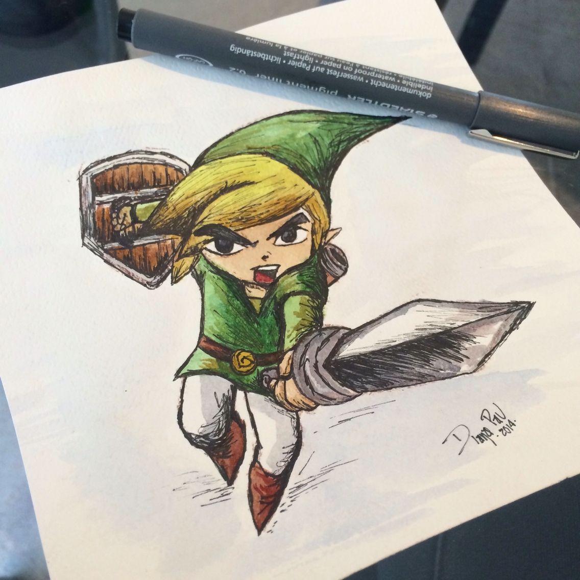 Link, acuarela