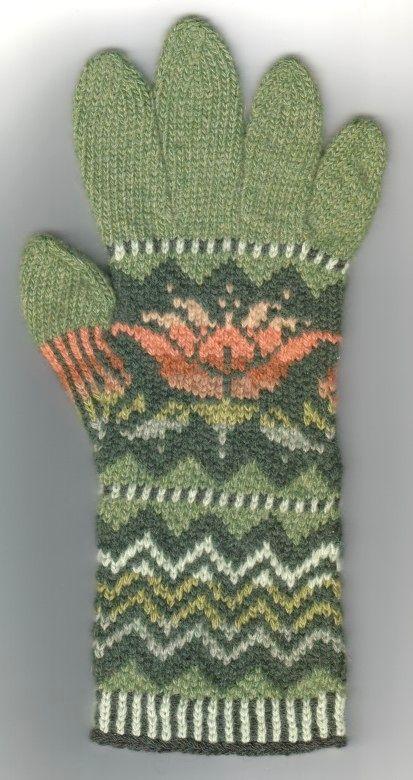 Fair isle gloves, made with Colourmart yarns