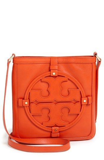 Orange Leather Crossbody Bag By Tory Burch For 365 From Nordstrom