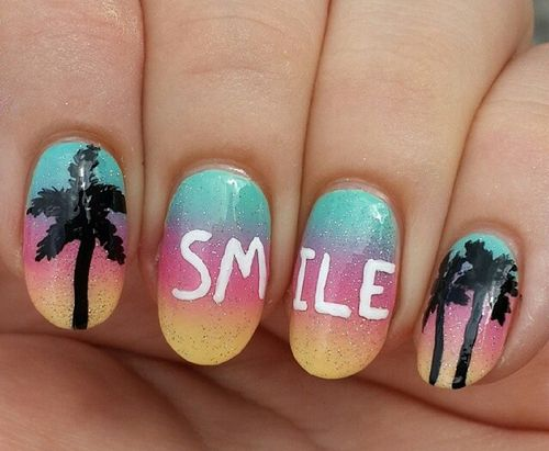 These nails will remind you to smile!