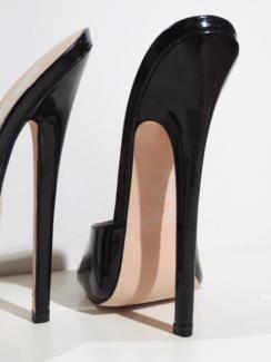Mules Damen Sandalen Pantoletten Schuhe Stilettos Peeptoe Sehr Hoher Absatz Neu
