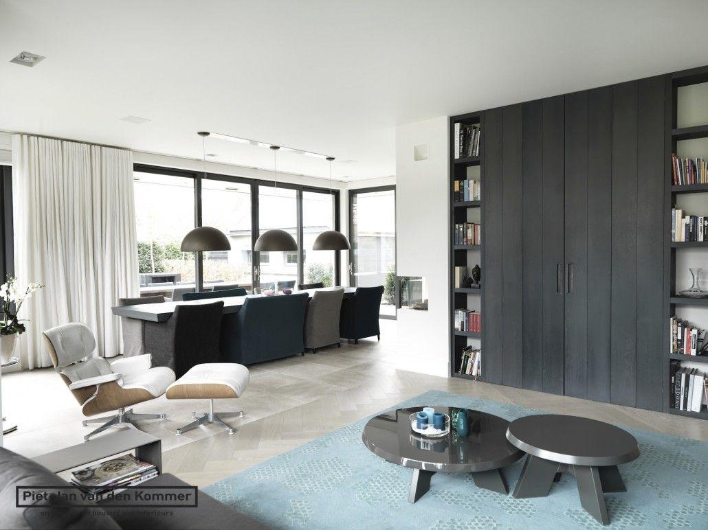 Moderne villa woonkamer boekenkast huis smart furniture